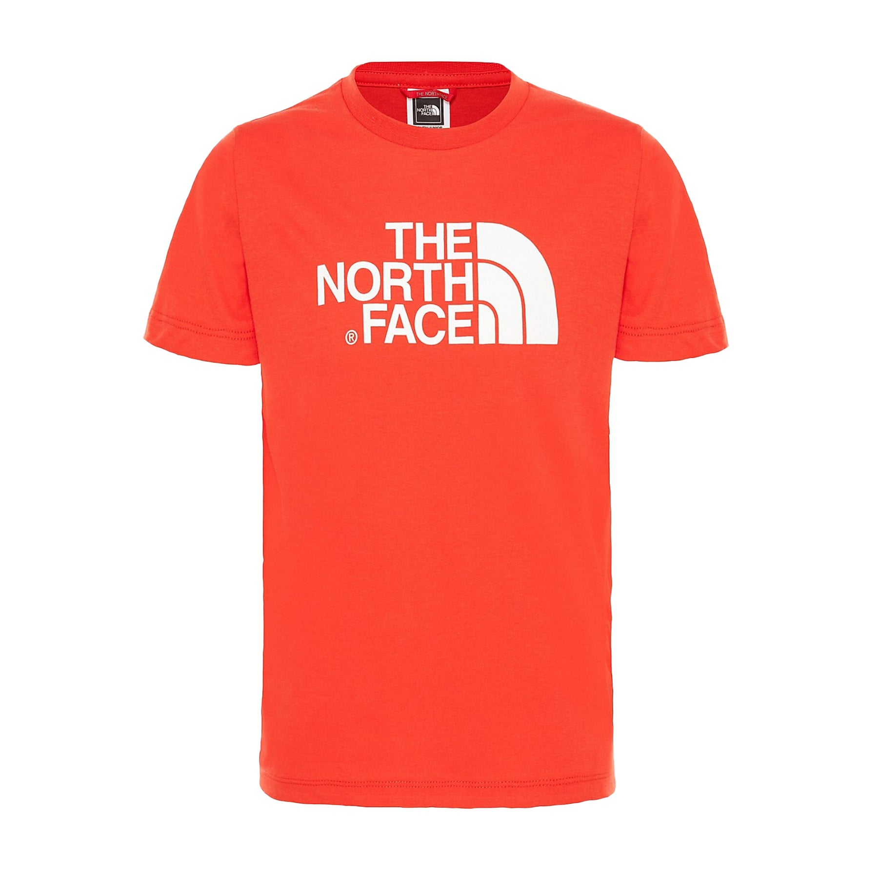 North Face Easy Kids Short Sleeve T-Shirt - Fiery Red TNF White