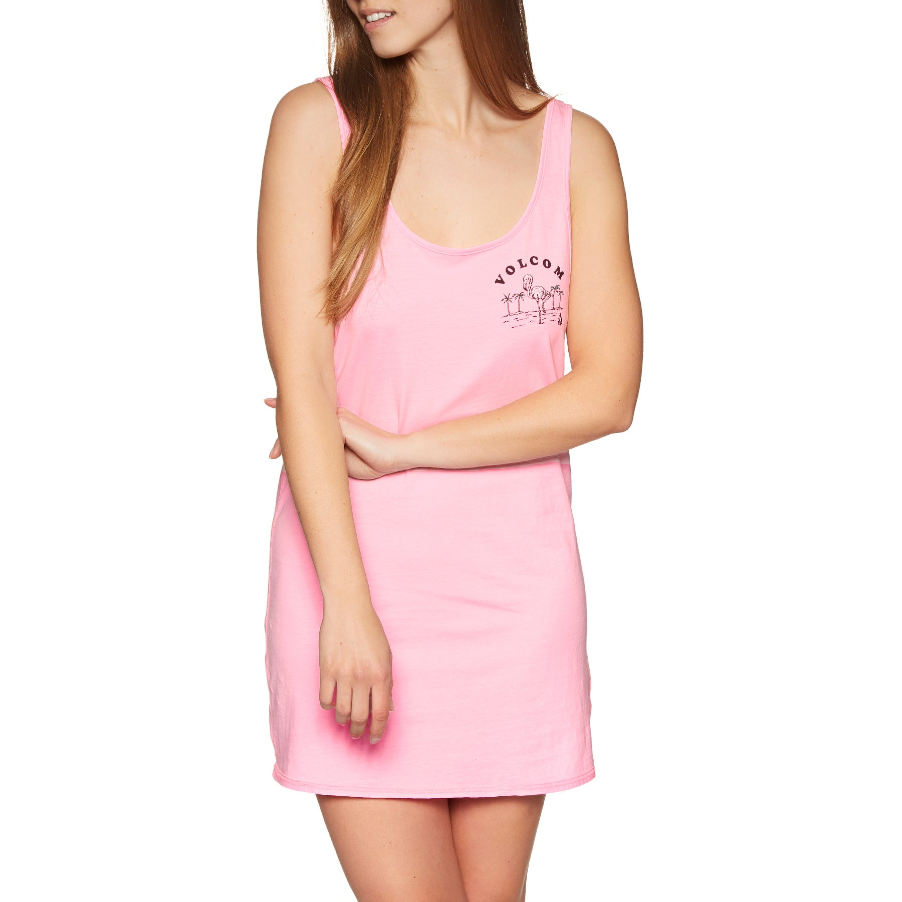 Volcom Neon And On Kleid - Neon Pink