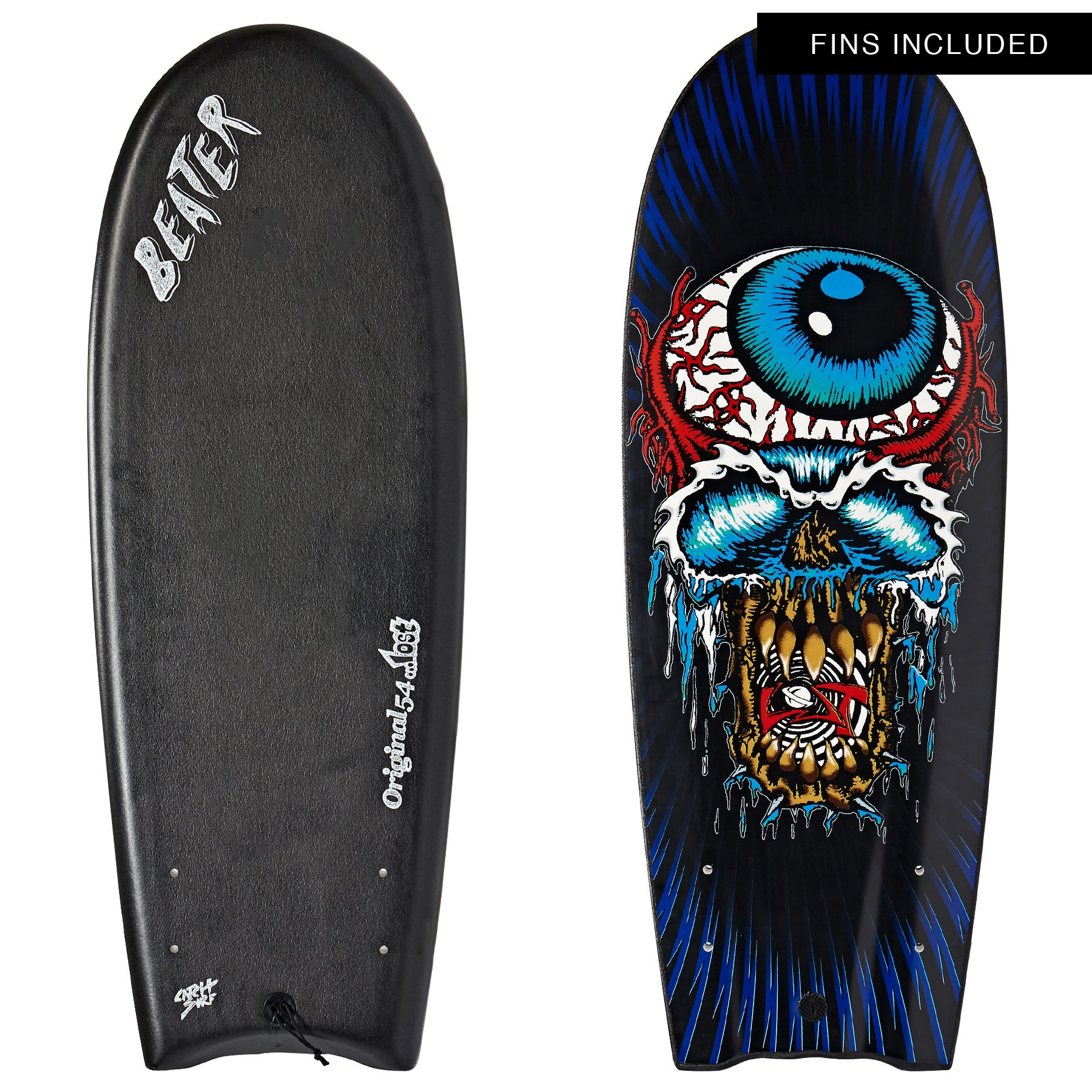 Catch Surf Beater Original Twin Fin Lost Edition 3 Surfboard - Black
