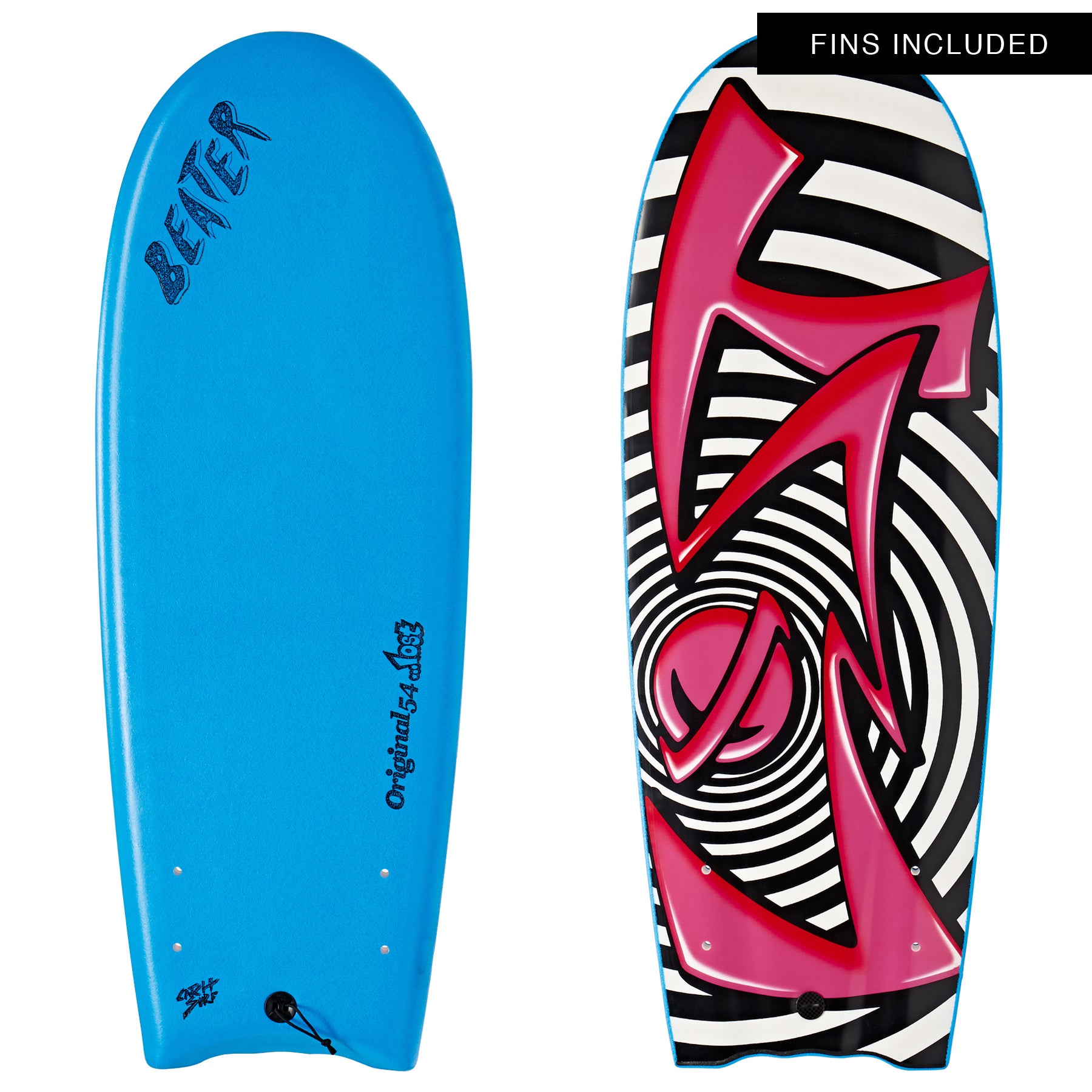 Catch Surf Beater Original Twin Fin Lost Edition 4 Surfboard - Az Blue