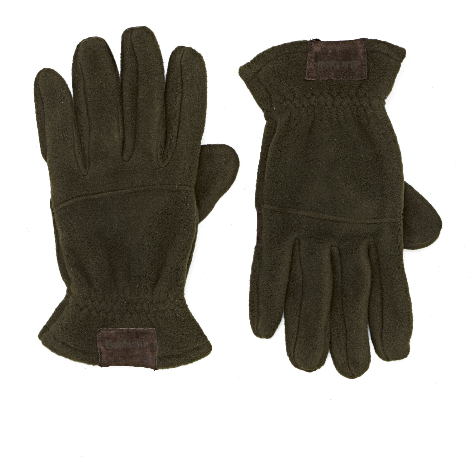 Barbour Fleece Country Gloves - Olive