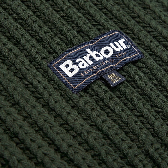 Barbour Chunky Rib Knitted Giftset Scarf and Beanie