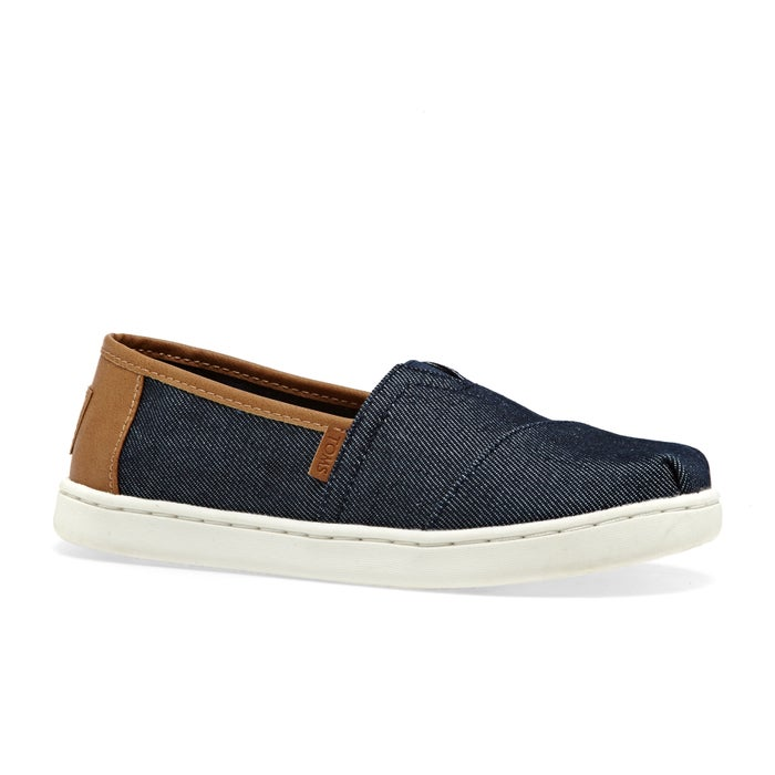 417afe2aa74 Toms Alpargata Denim Kids Slip On Shoes available from Surfdome