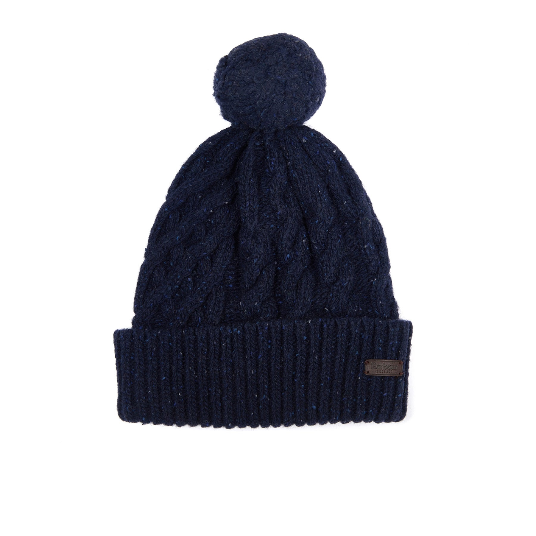 Barbour Seaton Pom Beanie - Navy