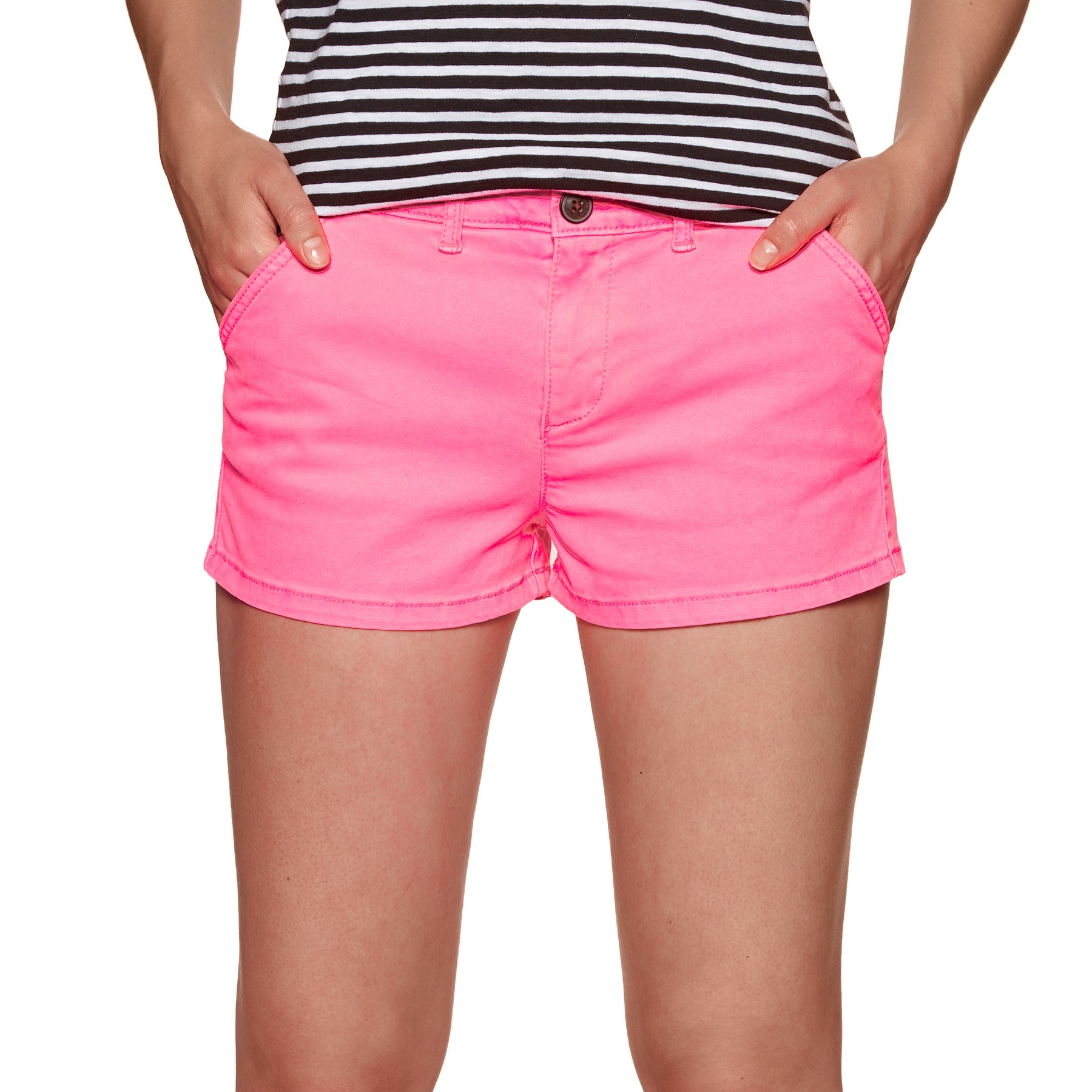 Shorts Femme Superdry Chino Hot - Fluro Pink
