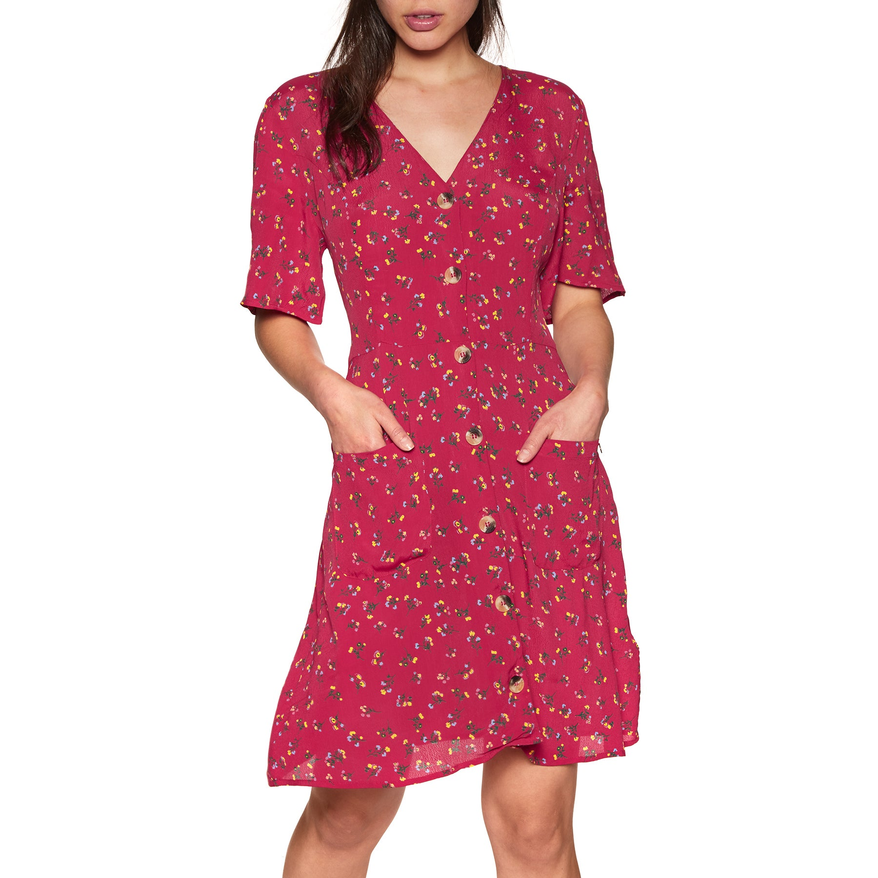 Vestido Superdry Darcy Button Through - Red Ditsy