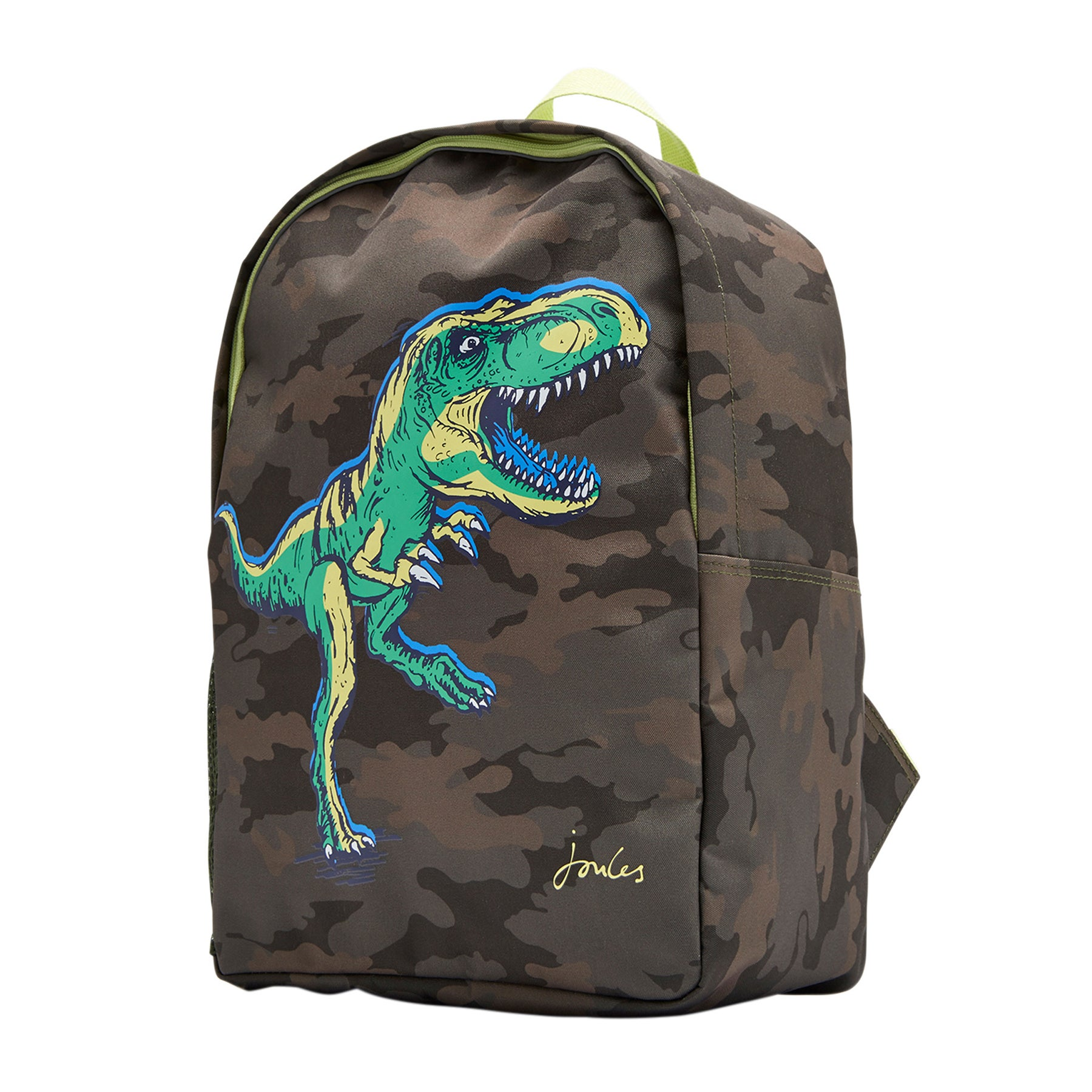 Joules Patchback Rucksack - Green Camo Dino