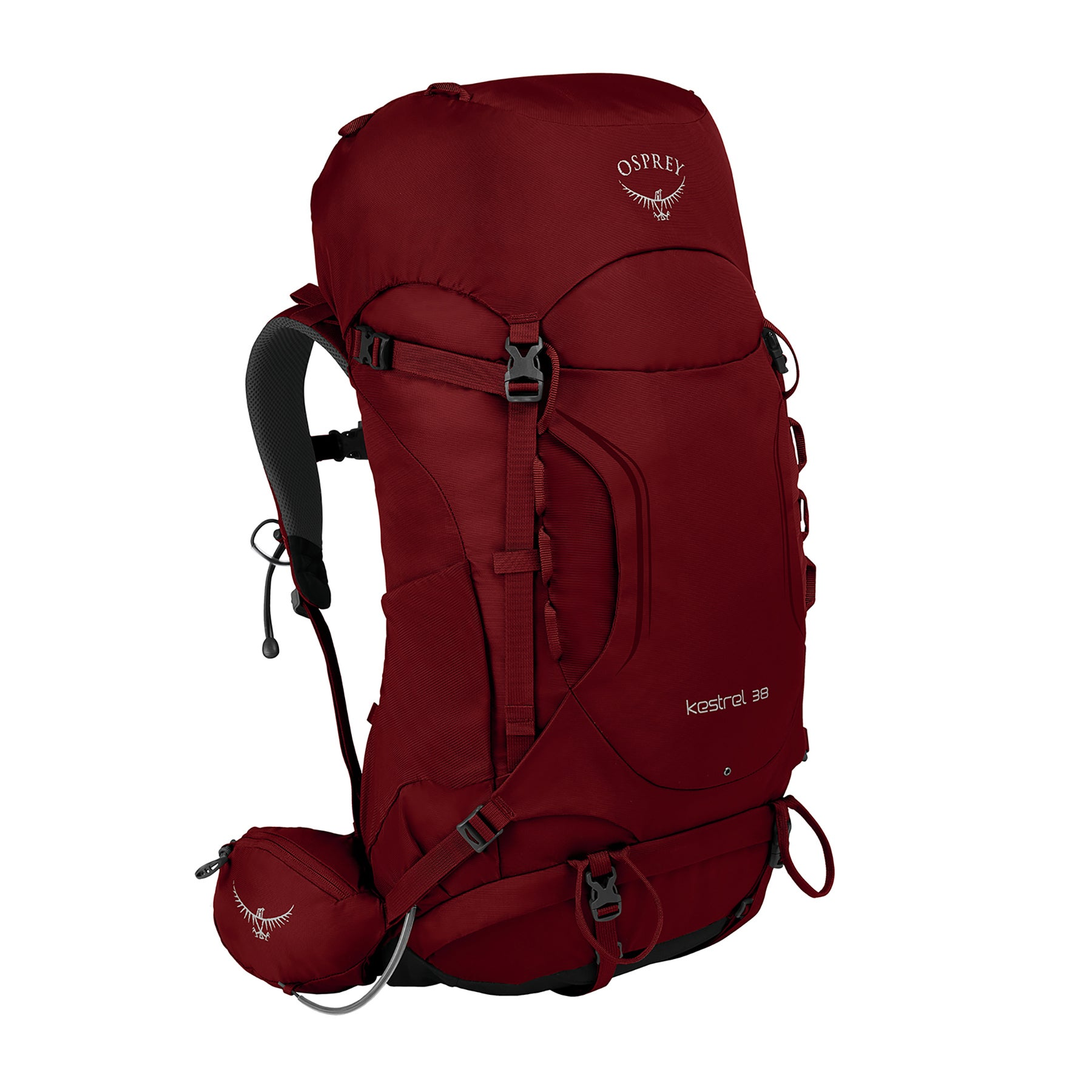 Osprey Kestrel 38 Hiking Backpack - Rogue Red