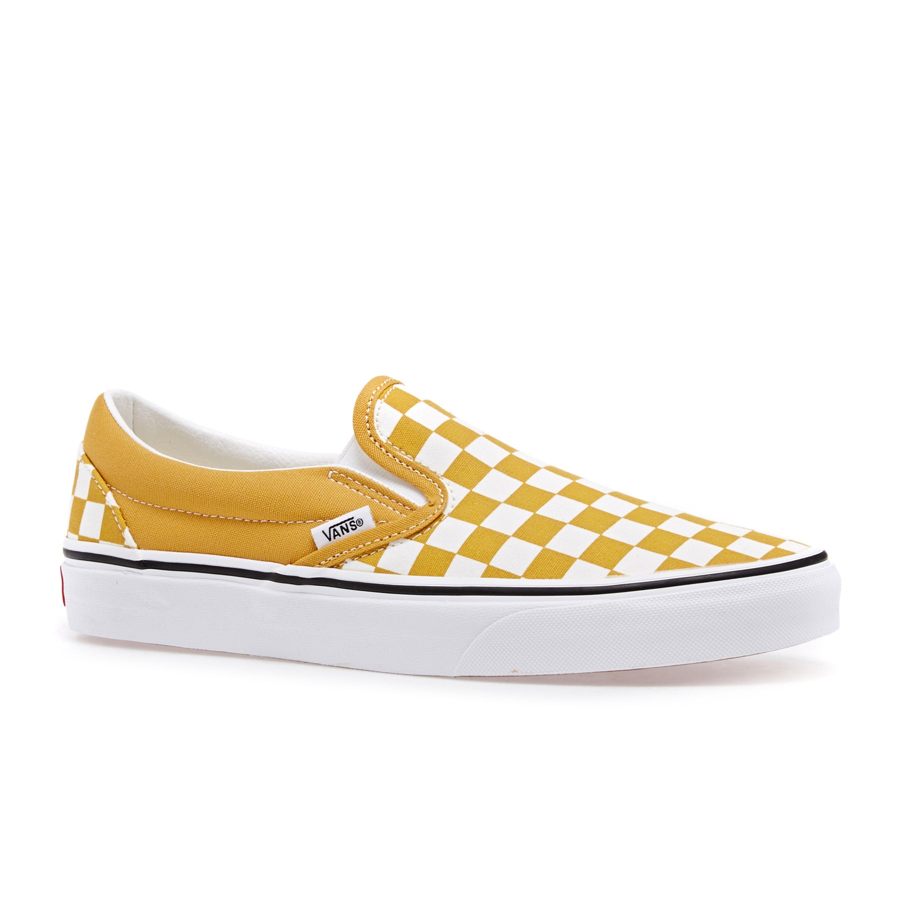 Dress Shoes Vans Authentic Classic - Checkerboard   Yolk Yellow True White