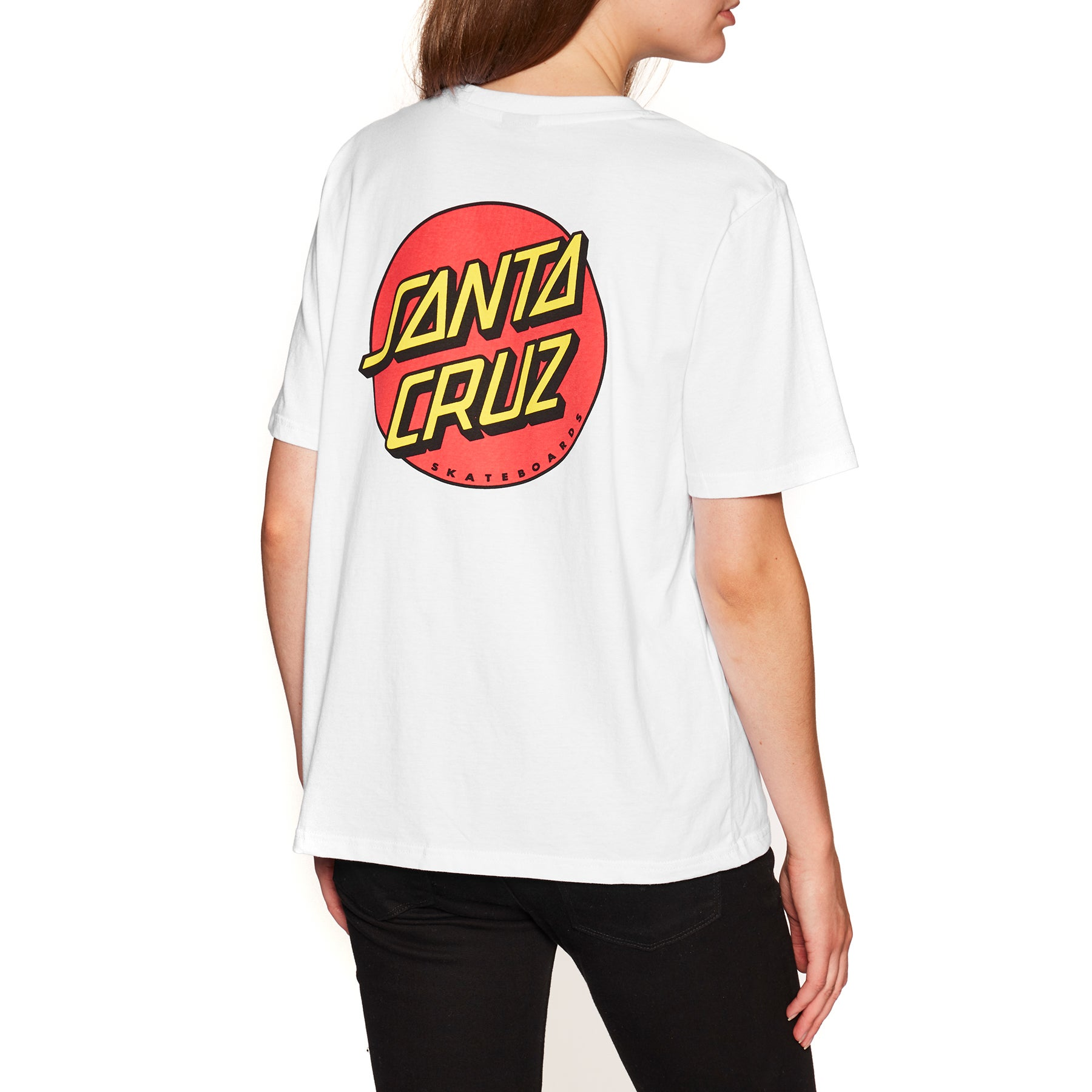 4cafe4f4226 Santa Cruz Classic Dot Womens Short Sleeve T-Shirt available from Surfdome