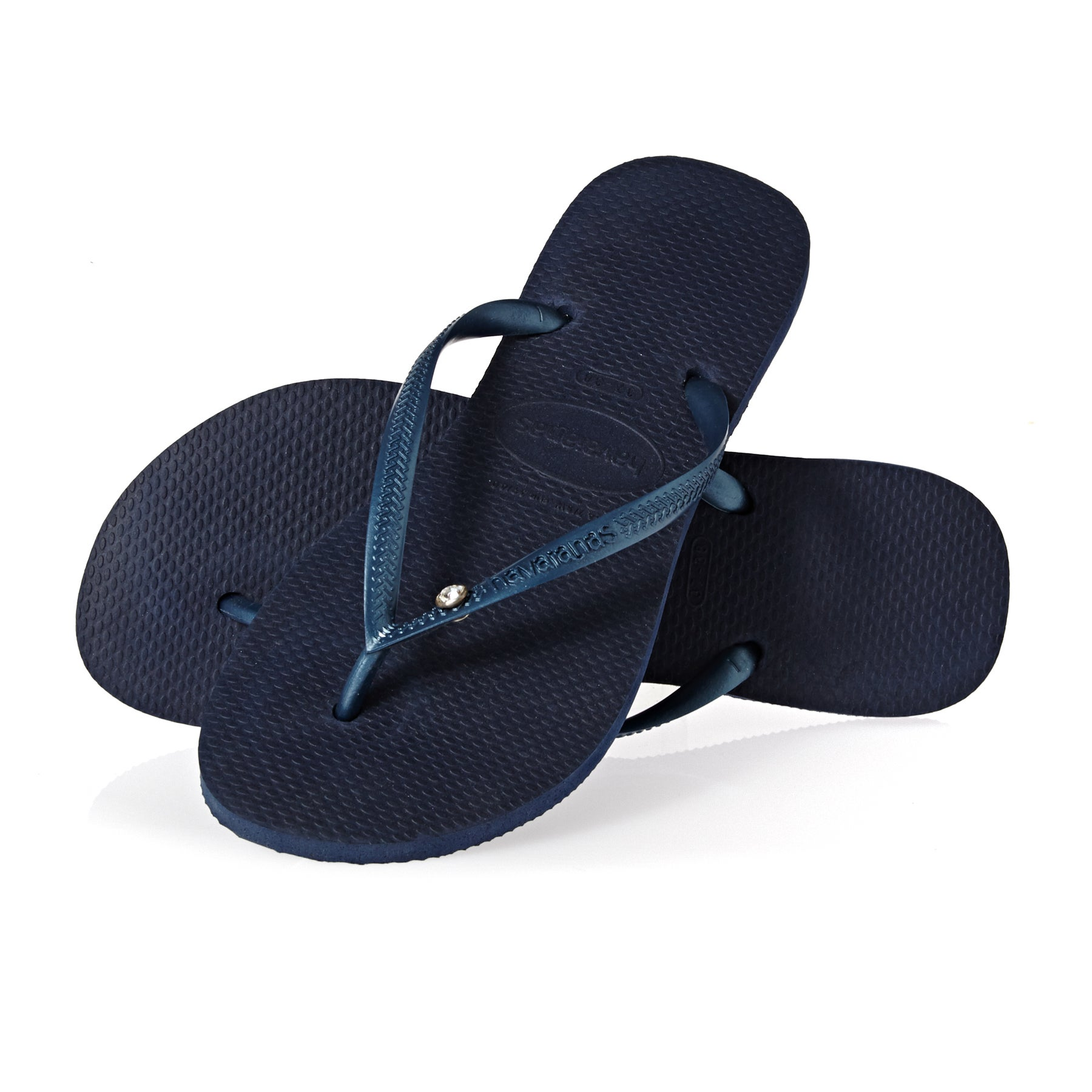 Sandales Femme Havaianas Slim Crystal Glamour Sw - Navy Blue