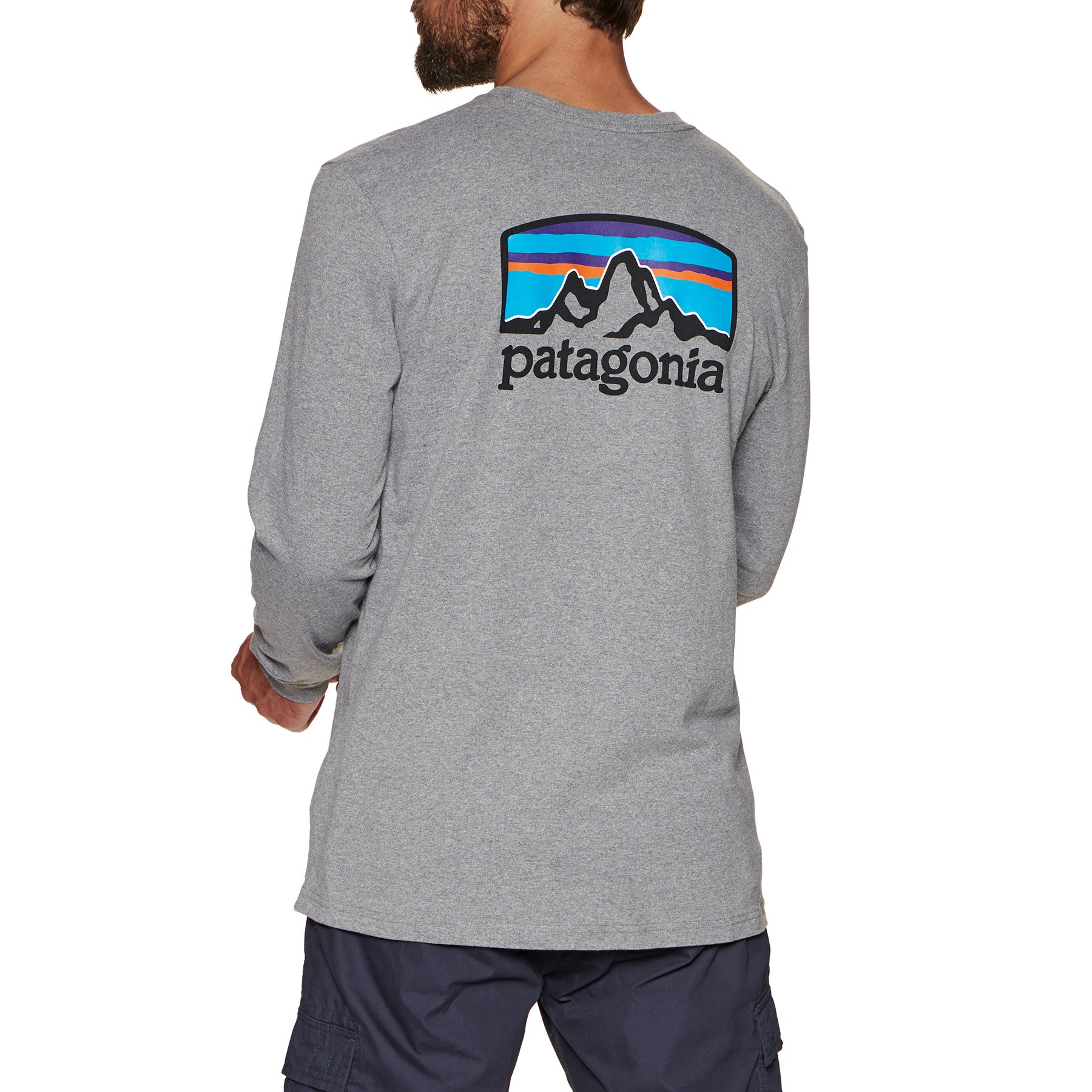 Patagonia Fitz Roy Horizons Responsibilitee Long Sleeve T-Shirt - Gravel Heather