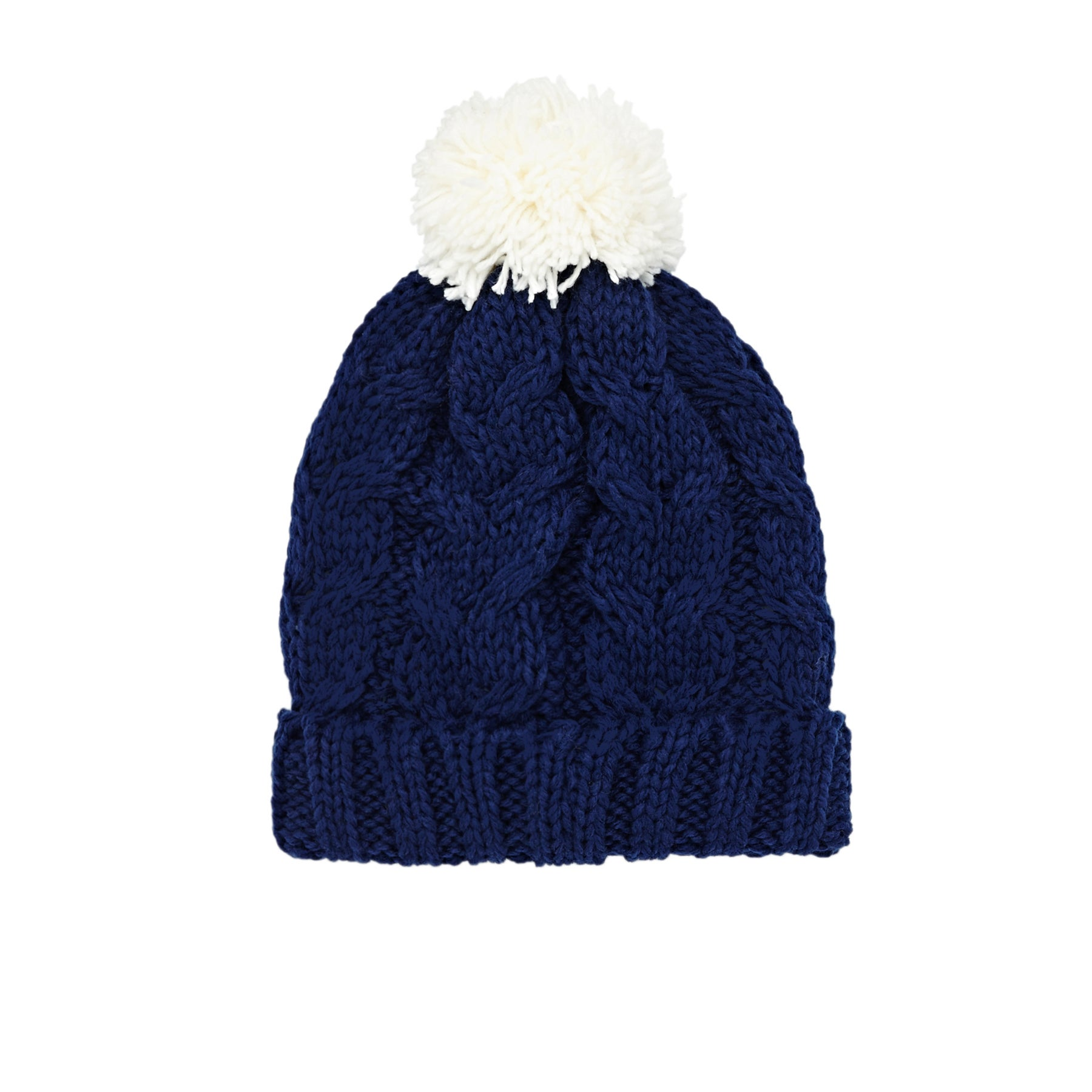 SWELL Whistler Cable Pom Womens Beanie - Navy