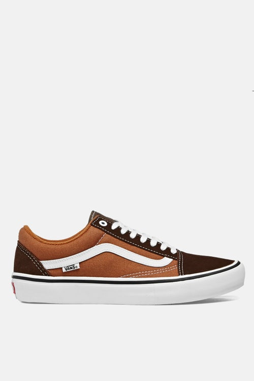 Vans Old Skool Pro Boty - Potting Soil Leather Brown ce8578020d