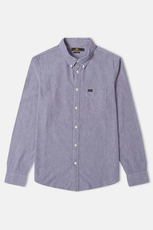 b6ea96cd Lee Button Down L S Shirt - Bleached Denim