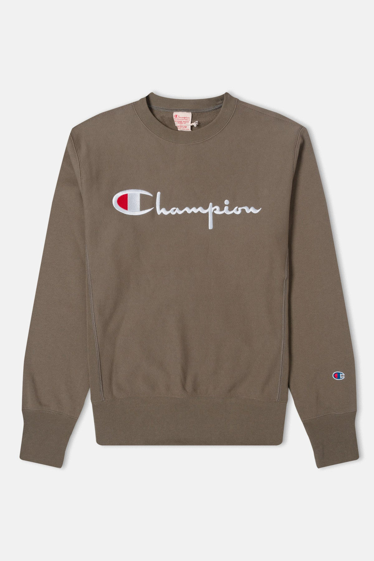 a626c9f3 Champion Script Logo Reverse Weave Sweatshirt available from Priory