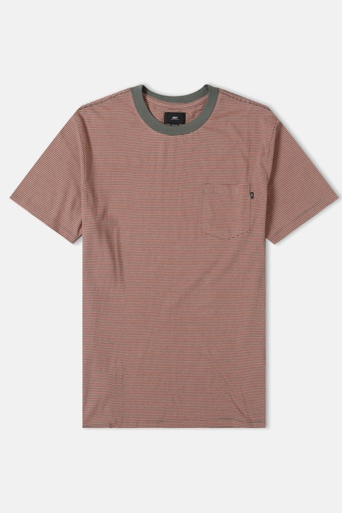 3afe3329 Obey Wisemaker Pocket S S T-Shirt - Dusty Rose Multi