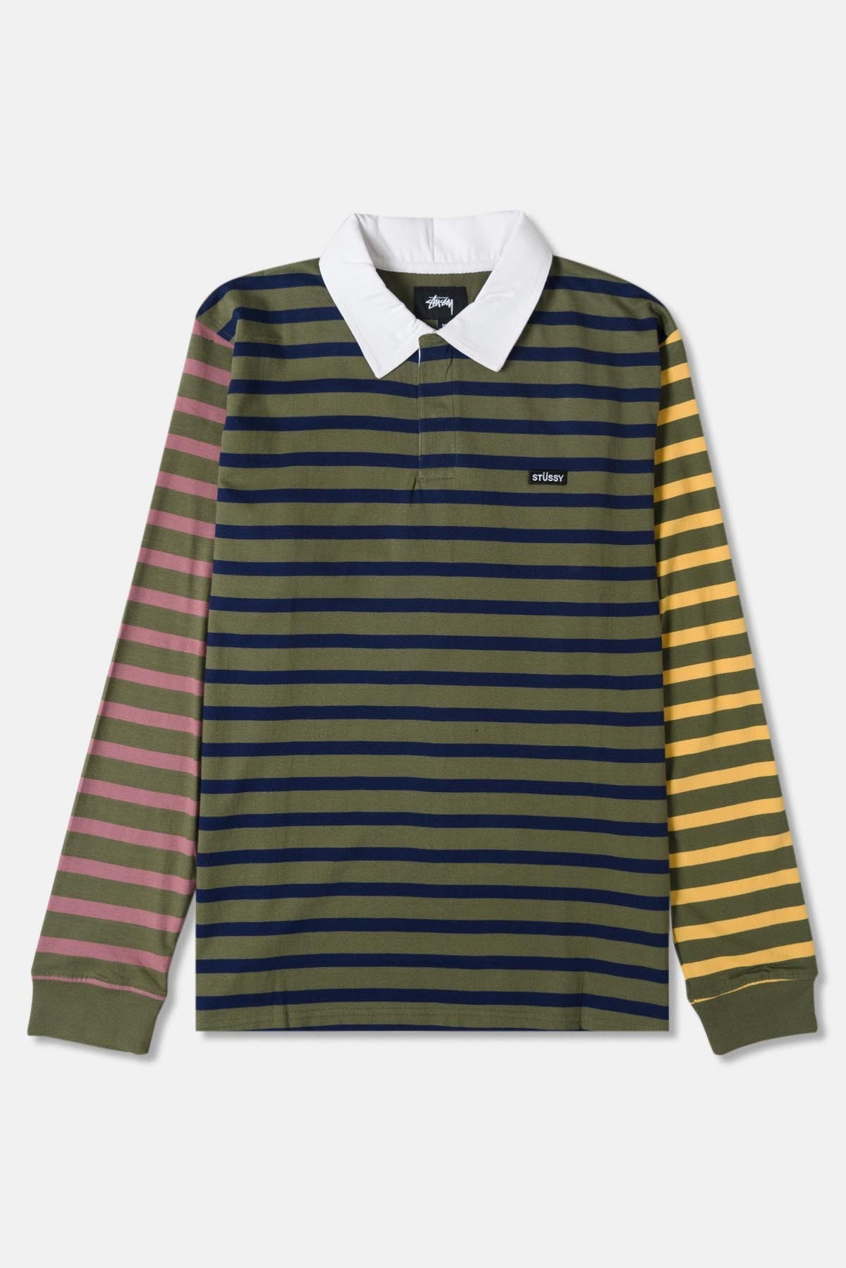 81cb46d6eb4 Stussy Jonah Stripe LS Rugby Top available from Priory