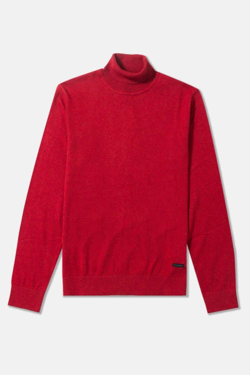 cc8ffe42 Lee Roll Neck Knit Sweatshirt - Red Runner
