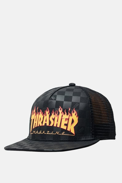 Vans x Thrasher Trucker Cap available from Priory 7f1461b43d1