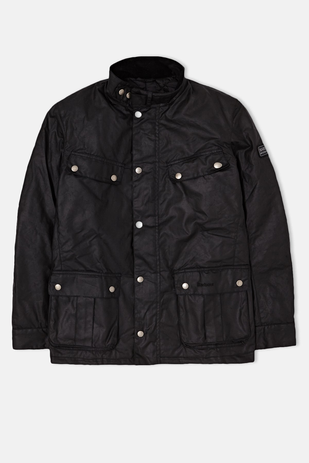 Chaqueta encerada Barbour International Duke disponible de Priory a5b3ef1431369