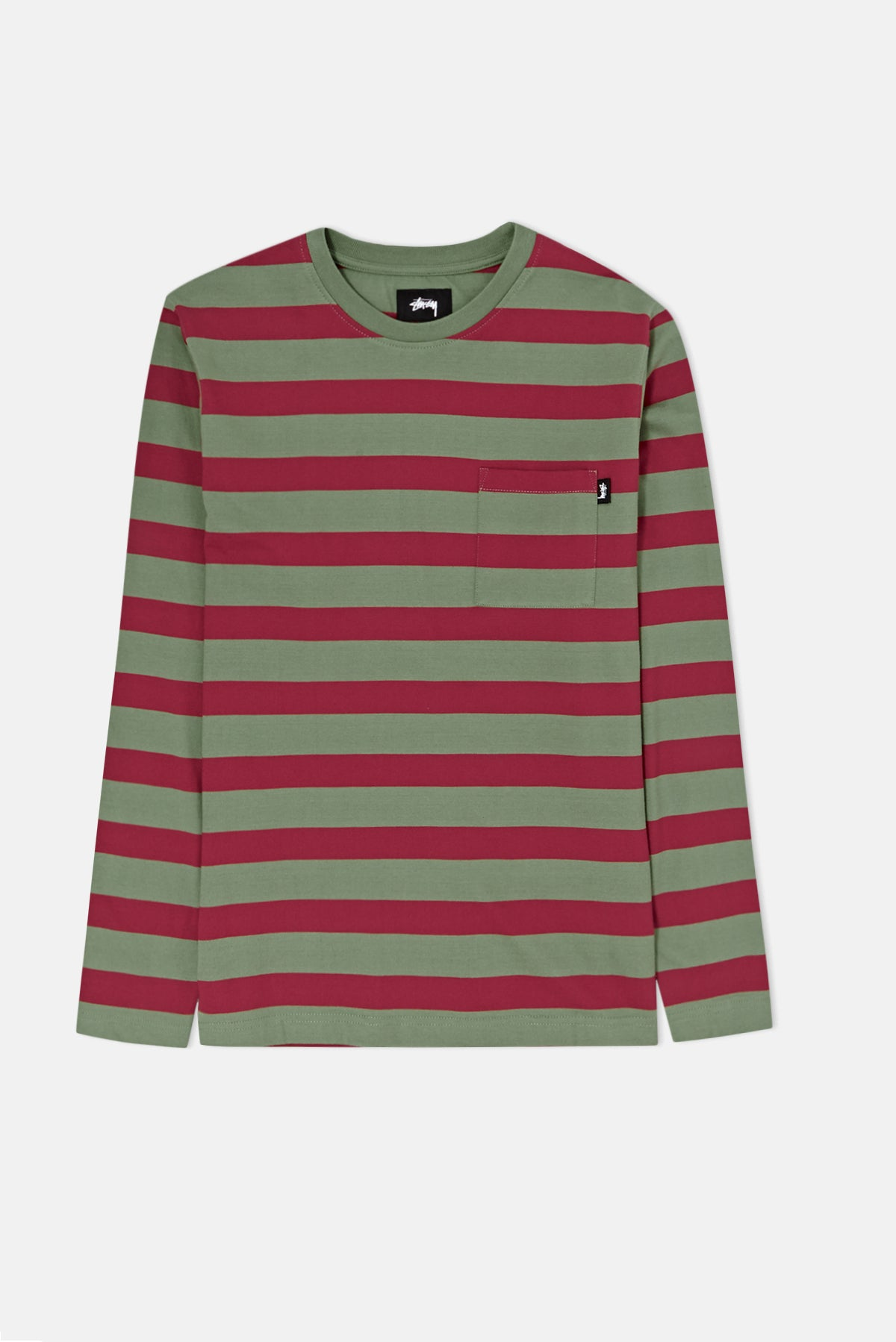 0734d97133 Stussy Malcom Stripe Crew Sweatshirt available from Priory