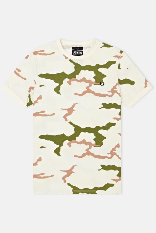 5124155a6 Fred Perry Collections x Ark Air Camouflage S S T-Shirt - Tundra Camo