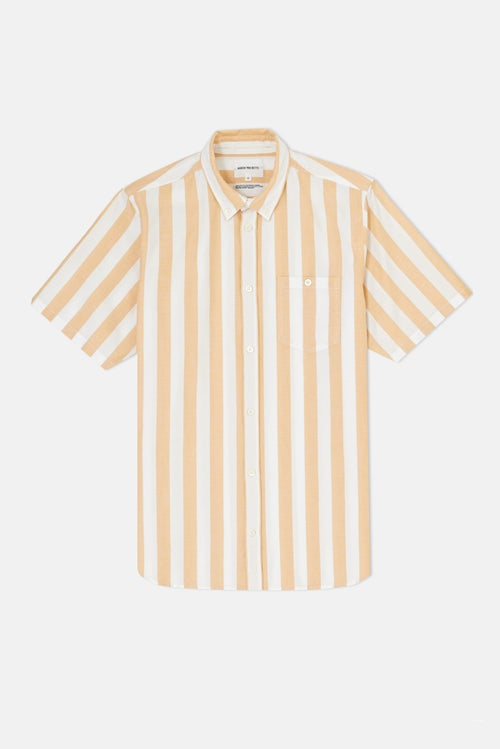 9848ea1fa0 Norse Projects Theo Oxford S S Shirt - Sunwashed Yellow Wide Stripe