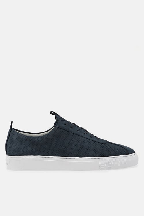 c039050b73f917 Grenson Sneaker 1 Shoes - Deep Blue Nubuck