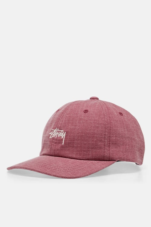 653651efef3079 Stussy Washed Ripstop Low Pro Cap - Red