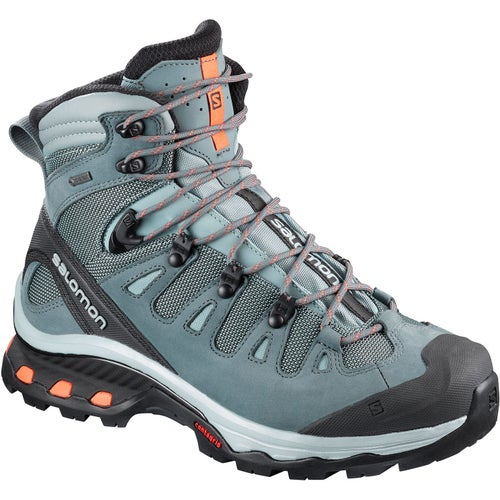 1b895045acf3 Salomon Quest 4D 3 GTX Womens Hiking Boots - Lead Stormy Weather Bird Of  Paradise
