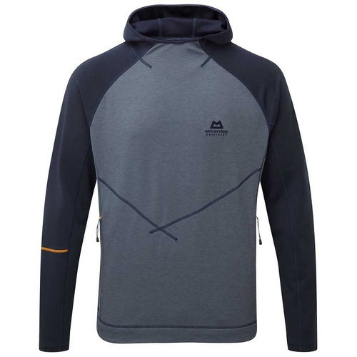 7b19e291ad Mountain Equipment Clarion Hooded Crew Mens Baselayer - Ombre Blue Cosmos